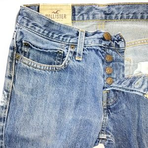 HOLLISTER Button-Fly Slim Straight Jeans 30/31
